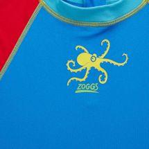 Zoggs Kids' Octopus Fever Zip Sun Top, 1147644