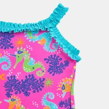 Zoggs Kids' Sea Unicorn X Ruffle Back One-Piece Swimsuit (Younger Kids), 1689117