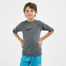 Nike Swim Kids' Heather Camo Swoosh Hydroguard T-Shirt (Older Kids)