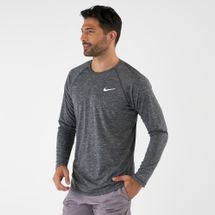 Nike Men's Heather Long Sleeve Hydroguard T-shirt