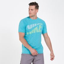 Nike Swim Men's Heather Tilt Rash Guard T-Shirt
