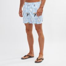 South Beach Pelican Print Swim Shorts