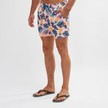 South Beach Multi-Leaf Print Swim Shorts