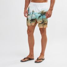 South Beach Palm Tree Scene Swim Shorts