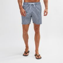 South Beach Narrow Stripe Print Swim Shorts
