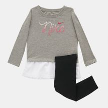 Nike Kids' Script Mesh Long Tunic And Leggings Set