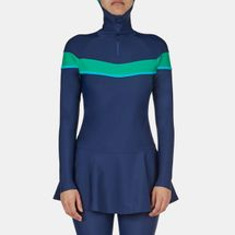 Veilkini Water Curves Full-Cover Sporty Skirted Swimsuit, 363027