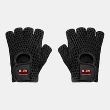 Body Sculpture Mesh Cotton/Leather Fitness Gloves