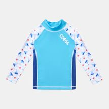 COÉGA Kids' Long Sleeve Rashguard Swimshirt Blue