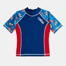COÉGA Kids' Short-Sleeve Rashguard Swimshirt