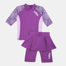 COEGA Kids' Two-Piece Skirted Swim Suit