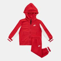 Nike Kids' Air Full Zippered Hoodie and Jogger Set (Baby and Toddler) Red