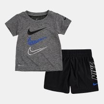 Nike Kids' Dri-FIT Dropsets Swoosh T-Shirt and Shorts Set (Baby and Toddler)