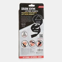 Iron Gym Lifting Straps With Comfort Pad - Black, 1273767