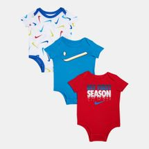 Nike Kids' Swoosh Bodysuit (Baby and Toddler) - 3 Pack