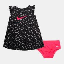 طقم فستان بولكا دوت من نايك للاطفال الرضع