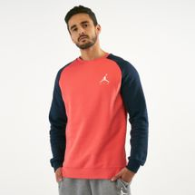 Jordan Men's Jumpman Fleece Crew Sweatshirt Orange
