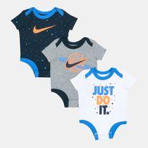 Nike Kids' Cosmic Swoosh Bodysuit (Baby and Toddler) - 3 Pack