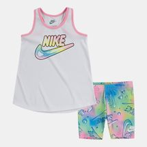 Nike Kids' Bubble Allover Print Bike Short Set (Baby and Toddler)