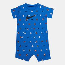 Nike Kids' 8 Bit Allover Print Ball Romper (Baby and Toddler)