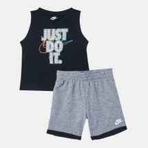 Nike Kids' Sportswear Mesh Fill Muscle Tank Top and Shorts Set (Baby and Toddler)