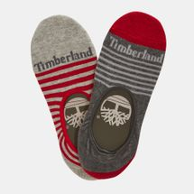 Timberland Striped Cotton Blend Invisible Socks (2 Pack)