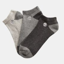 Timberland Organic Cotton No Show Socks (3 Pack)