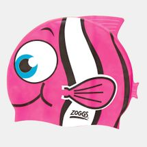 Zoggs Kids' Junior Character Silicone Cap (Younger Kids) - Pink, 1718335