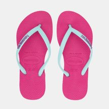 Havaianas Kids' Slim Logo Flip Flops (Older Kids)