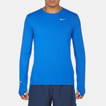 Nike Dri-FIT Contour Long Sleeve T-Shirt Blue