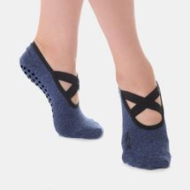 Great Soles Women's Juliet Double Wrap Grip Socks - Blue, 1481659