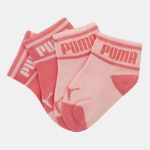 PUMA Kids' Wording Socks - 2 Pairs (Baby and Toddler)