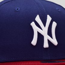 New Era Kids' MLB NY Yankees Cotton Block 9FIFTY Cap (Older Kids) - Blue, 1581930