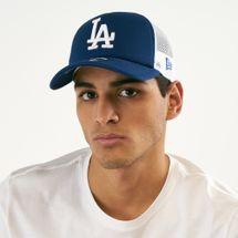 New Era Men's MLB LA Dodgers Clean Trucker 9FORTY Cap