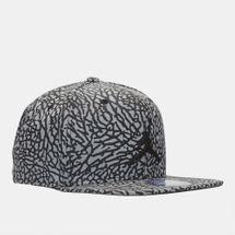 Shop Black Jordan Reflective Elephant Print Snapback Cap for Mens by ... 40fb098c311