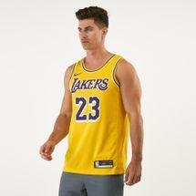 قميص إن-بي-إيه لوس أنجلوس ليكرز ليبرون جيمس ايكون ايديشن اوثتنك من نايك للرجال