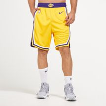 Nike NBA Los Angeles Lakers Road 18 Swingman Shorts
