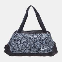 4373dd7069d6 Shop Black Nike Legend Club Print Duffel Bag for Womens by Nike 2
