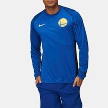 Nike NBA Golden State Warriors Long Sleeve Sweatshirt