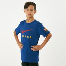 تيشيرت برشلونة من نايك للاطفال الكبار