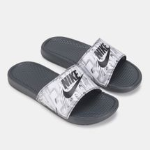 Nike Men's Benassi JDI Print Slides Grey