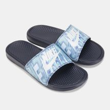 Nike Men's Benassi JDI Print Slides Blue