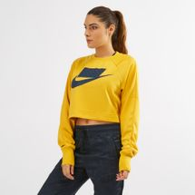 Nike NSW Cropped Sweatshirt Yellow
