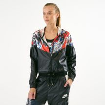 Nike Women's Sportswear Allover Print Cropped Jacket