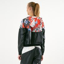 Nike Women's Sportswear Allover Print Cropped Jacket, 1541305