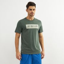 Nike Men's Dry DB Bar T-Shirt Green