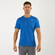 Nike Men's Solid Dri-FIT Crew T-Shirt