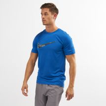 Nike Men's Dry Legend Camo Swoosh T-Shirt Blue