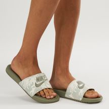 Nike Benassi Just Do It Slide Sandals Green