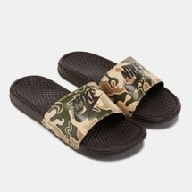 Nike Benassi Just Do It Slide Sandals Brown